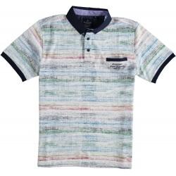 91.3645-185  Poloshirt Rainbow Print red